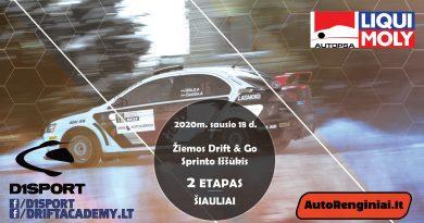Žiemos Bačiūnų kartodromo (Drift & Go) Sprinto Iššūkio 2 Etapas
