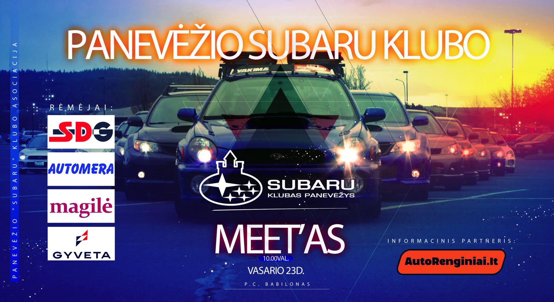 Panevėžio Subaru Klubo Meet'as