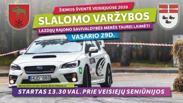 """Slalomo varžybos """"Žiemos šventė Veisiejuose 2020"""""""