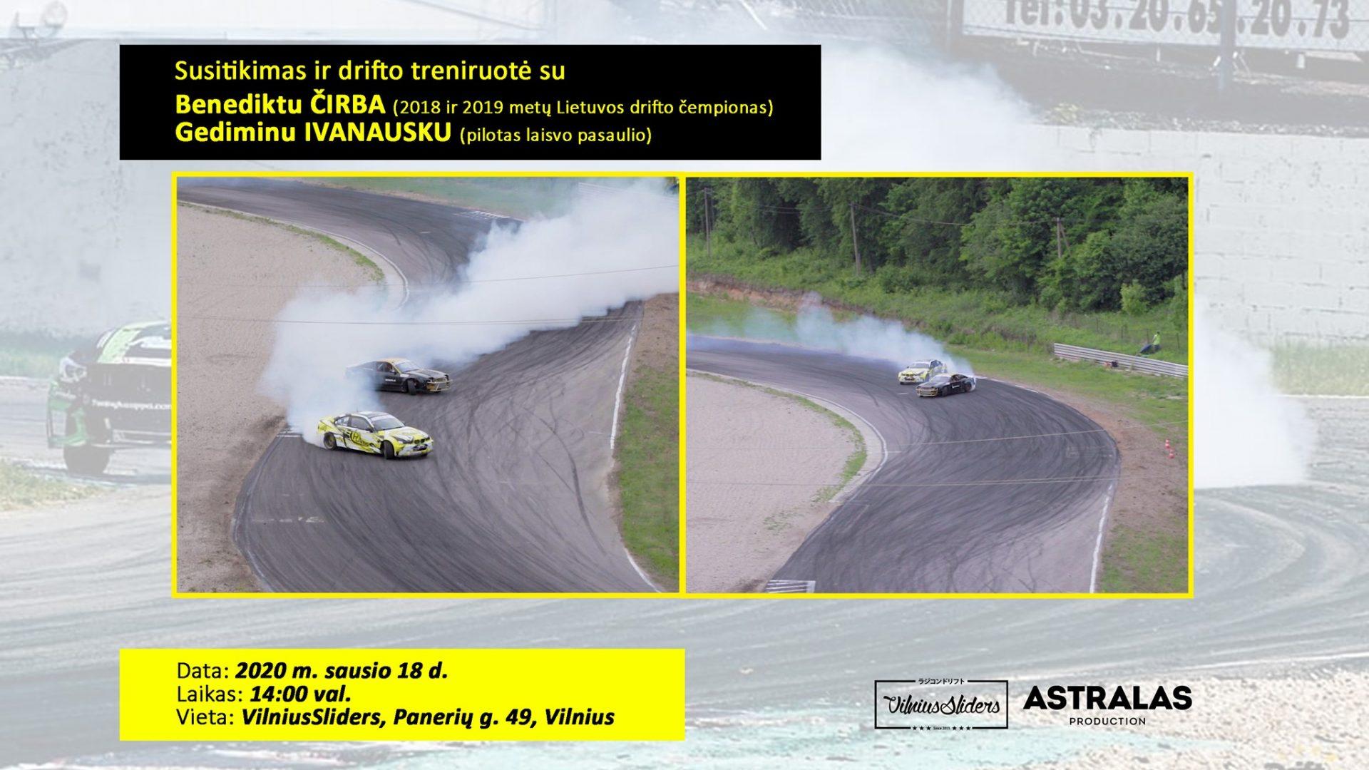 Susitikimas ir rc drifto treniruotė su B. Čirba ir G. Ivanausku