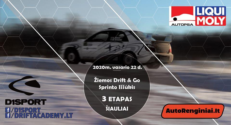 Žiemos Bačiūnų kartodromo (Drift & Go) Sprinto Iššūkio 3 Etapas