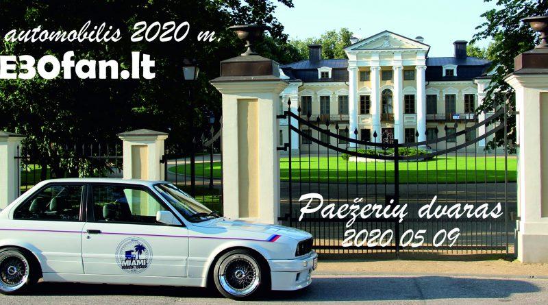 """BMW E30fan.lt """"Laiko automobilis 2020"""" Paežerių dvaras"""