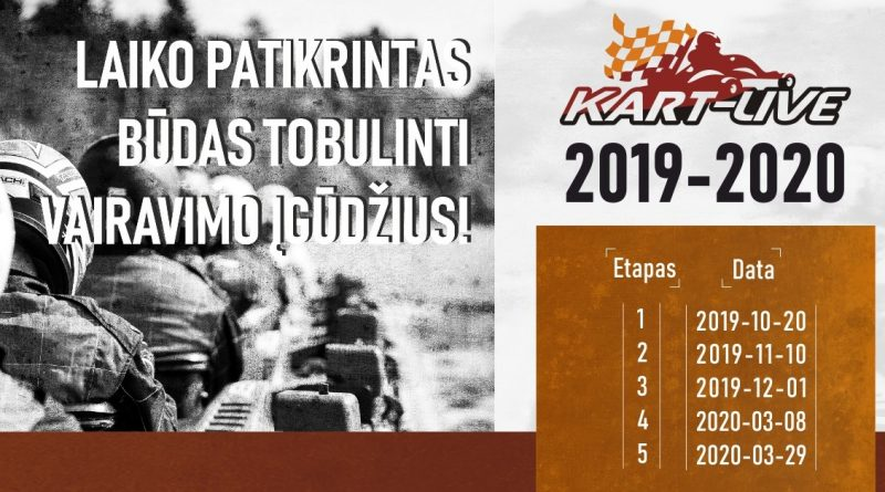 """Kartingo mėgėjų čempionatas """"Kart-Live taurė"""" 2019-2020"""