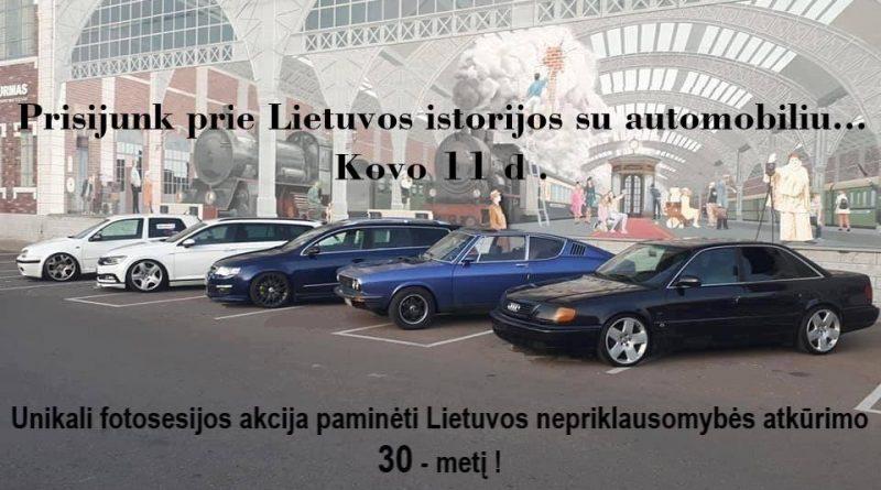 Prisijunk prie Lietuvos istorijos su automobiliu