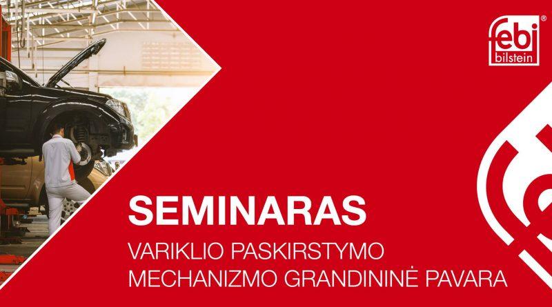 """Seminaras """"Variklio paskirstymo mechanizmo grandininė pavara"""""""