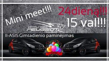Vėtrungės Peugeot klubo II-asis gimtadienis