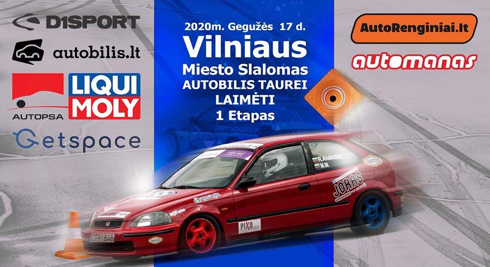 Vilniaus Miesto Slalomas Autobilis Taurei Laimėti 1 Etapas