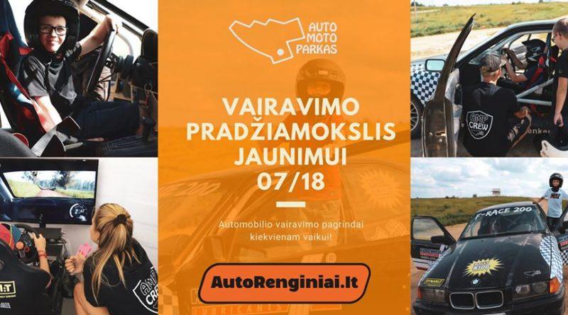 Vairavimo Pradžiamokslis Jaunimui Auto Moto Parke