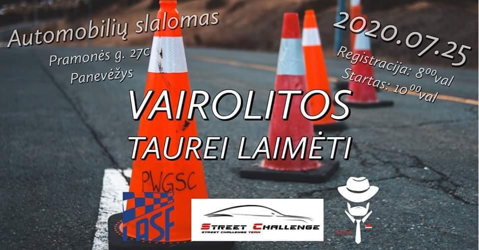 """Greituminio Slalomo Varžybos """"Vairolitos Taurei Laimėti"""""""