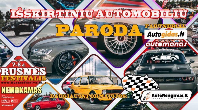 Išskirtinių automobilių paroda Rusnės Festivalyje