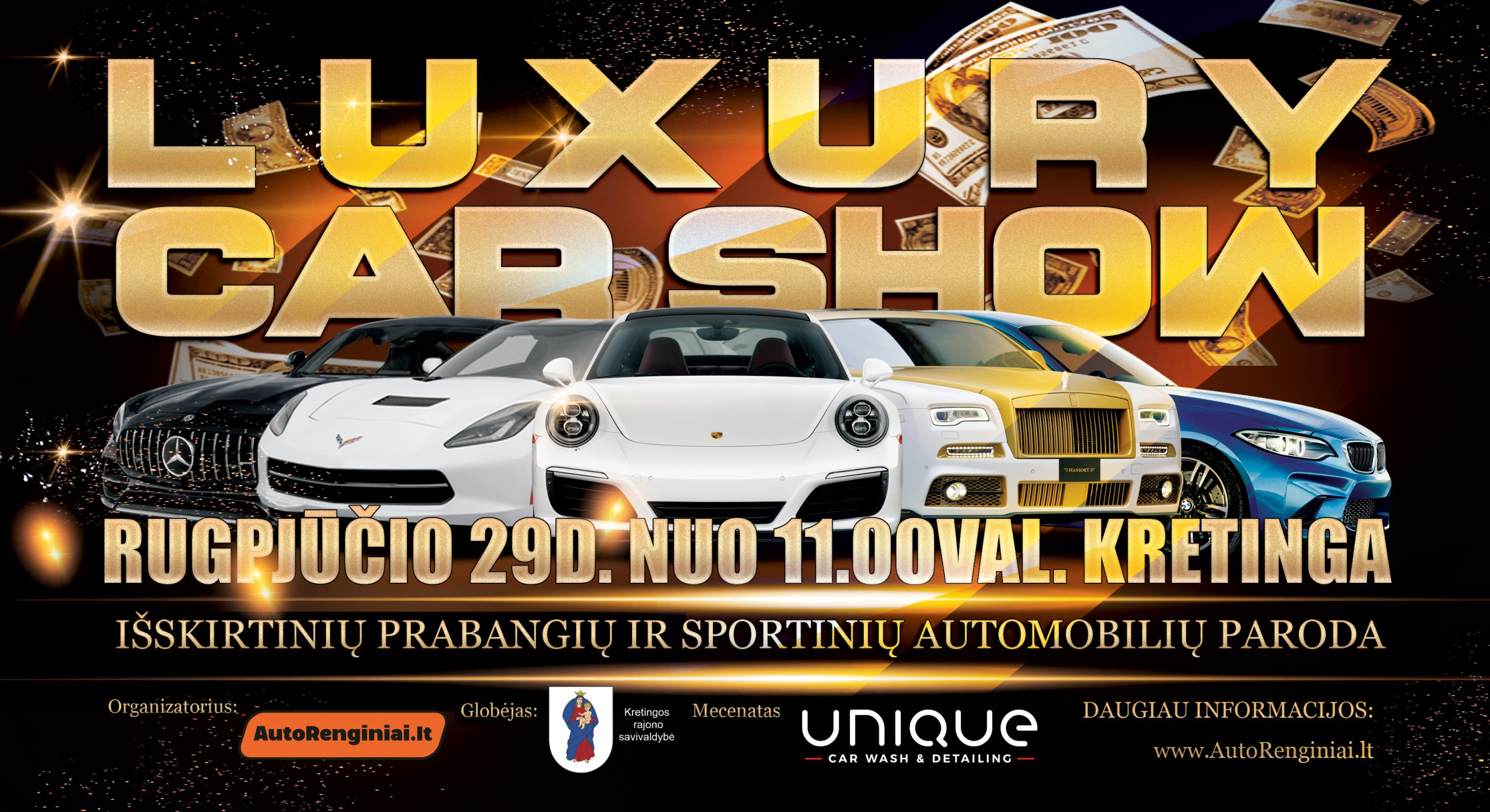 Luxury Car Show - Išskirtinių prabangių automobilių paroda