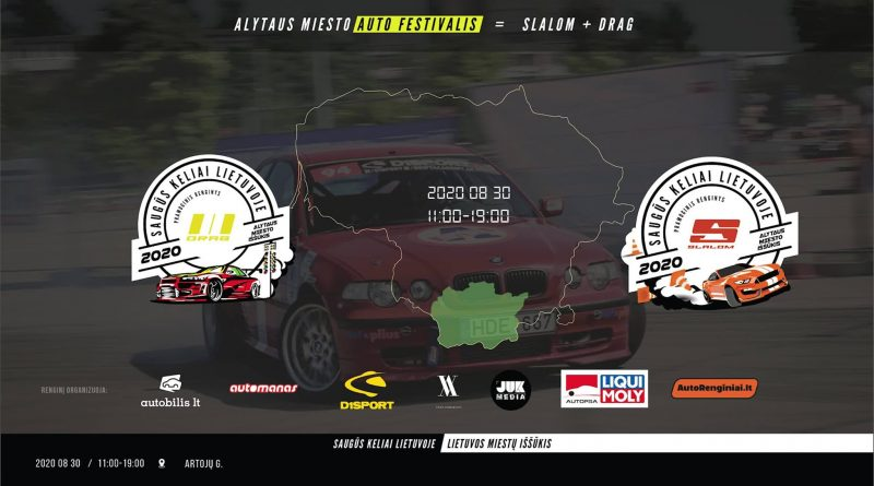 Alytaus Miesto Auto-moto festivalis: Slalomas + Dragas