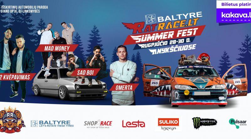Baltyre RatRace.lt Summer Fest rugpjūčio 28-30