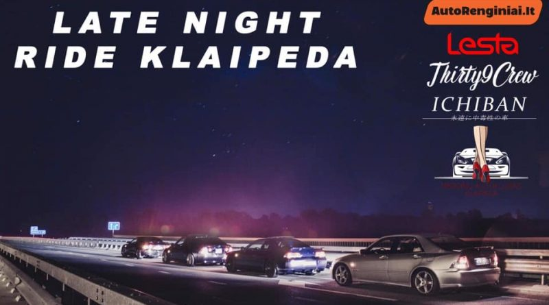 Late night ride Klaipėda