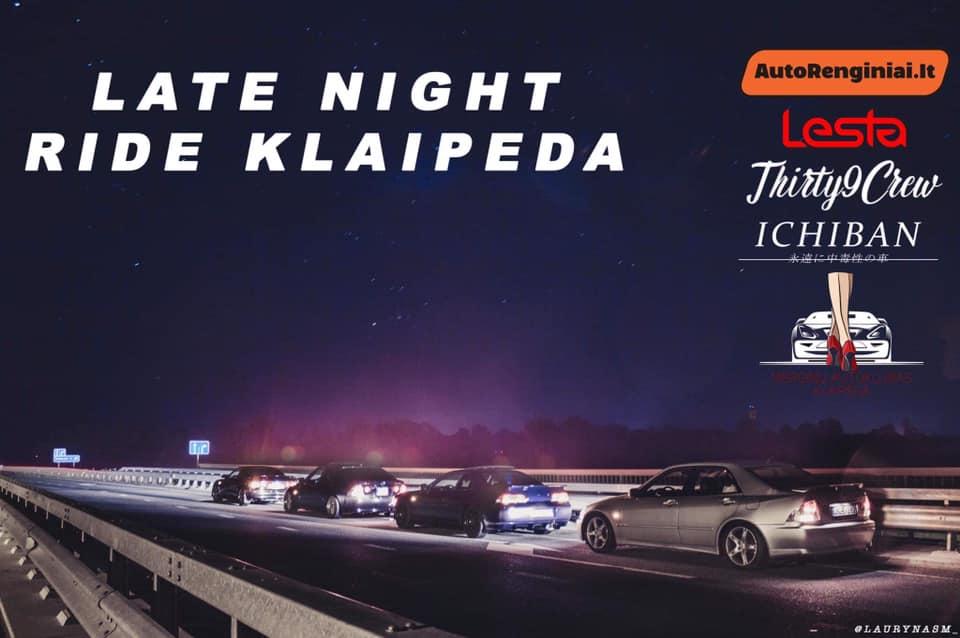 Late night ride Klaipėda