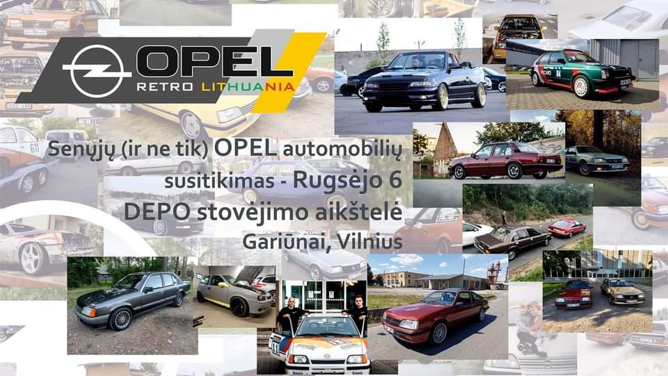 Senųjų Opel Modelių Susitikimas 2020