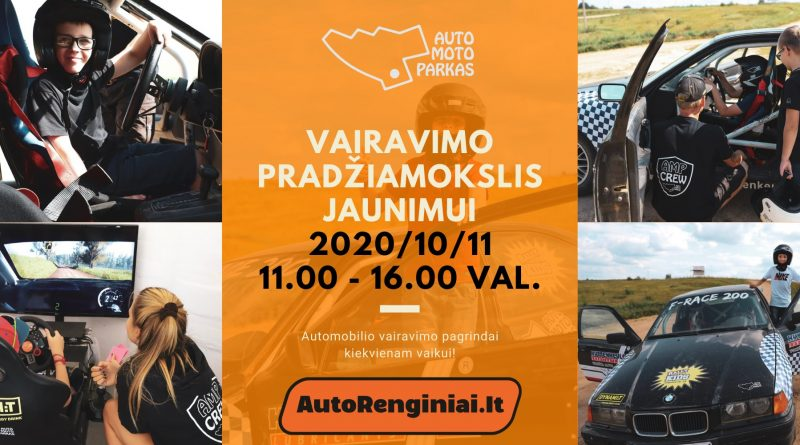 Vairavimo pradžiamokslis jaunimui 2020.10.11 Auto Moto Parke