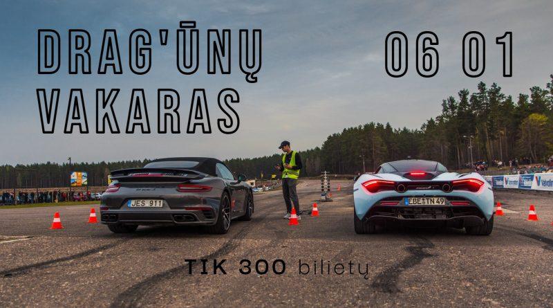 DRAG'ūnų vakaras - comeback'as