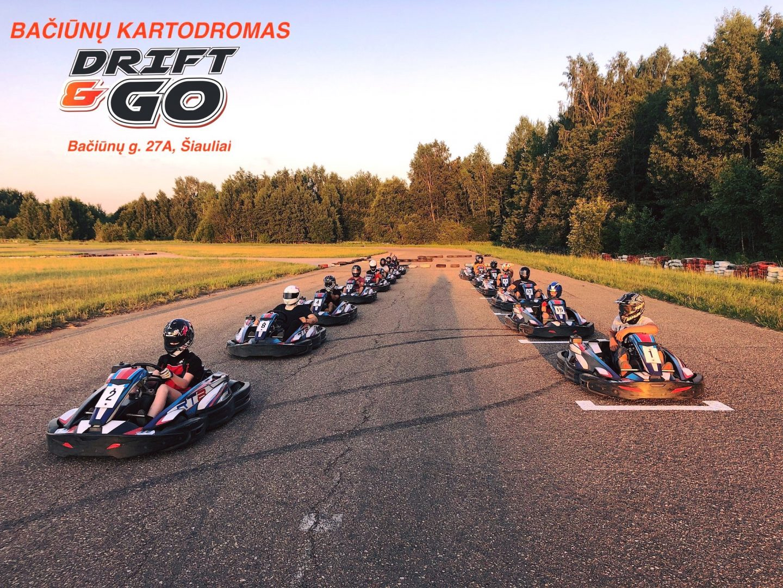 """Kartingo varžybos """"Drift&Go kartodromų taurė 2021"""" III etapas"""
