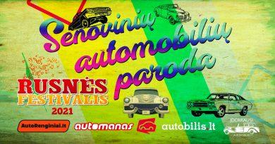 Senovinių automobilių paroda Rusnės Festivalyje 2021