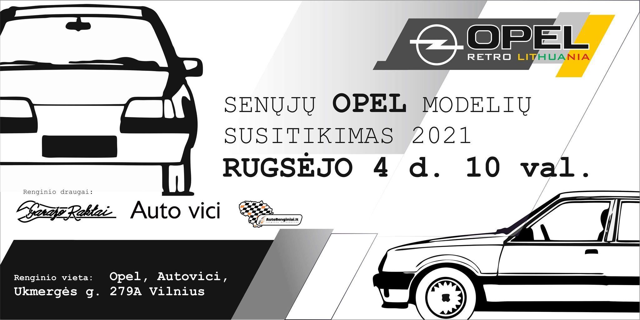 Opel Retro Lithuania 2021 didysis susitikimas!