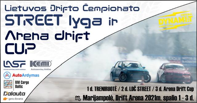 LIETUVOS DRIFTO ČEMPIONATO STREET LYGOS FINALAS ir DRIFT ARENOS CUP'as